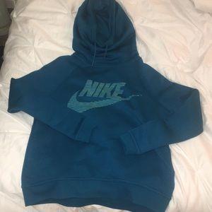Teal Nike hoodie